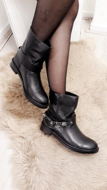 Black Bling Boots
