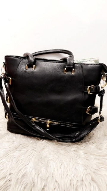 Black and Gold Belted Bag
