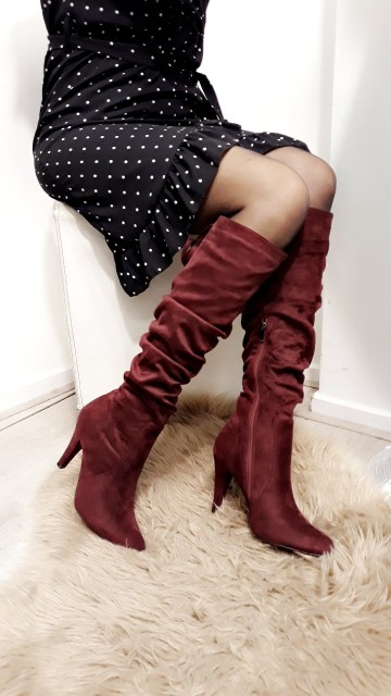 High red boots