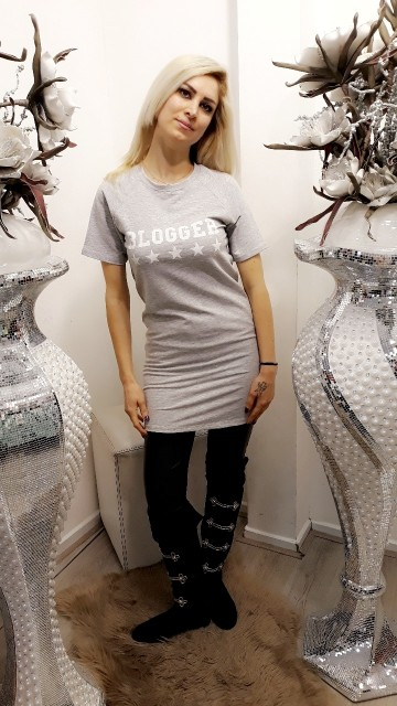 Grey basic dress