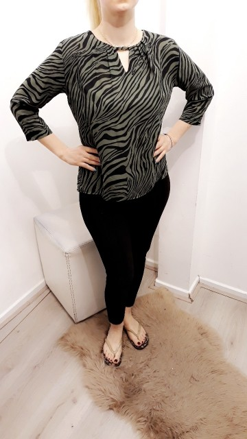 Green Zebra Blouse