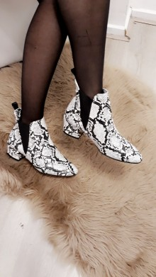 White Crocodile Boots