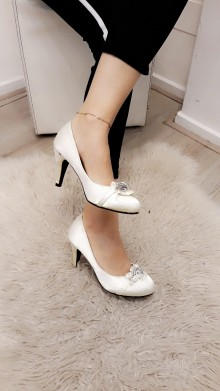 pumps met glitter detail