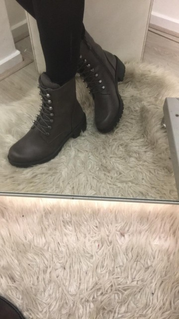 Brown Laced Up Boots