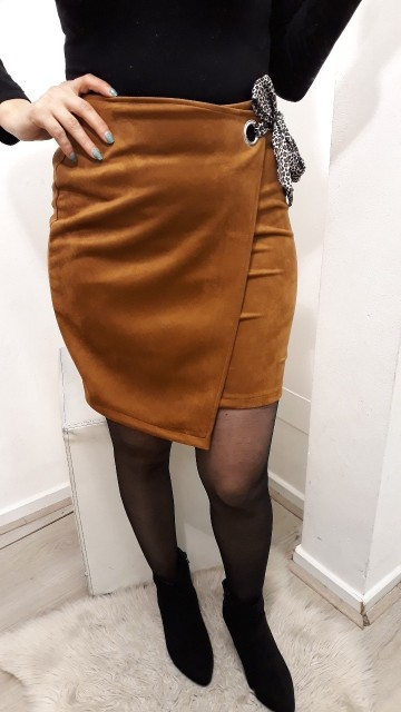 Brown Wrapped Skirt