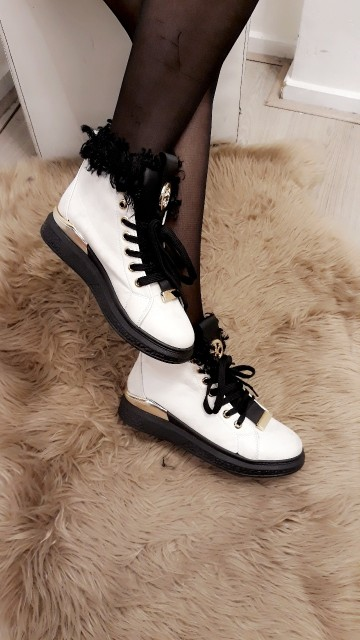 White Gold Ankle Boots