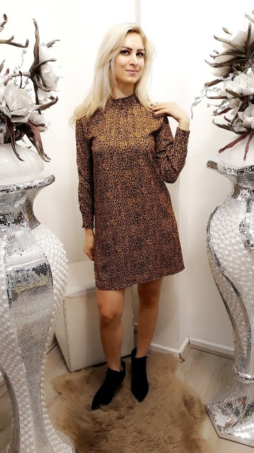 Panterprint dress -brown