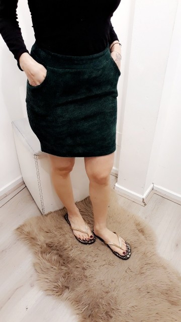 Green Thick Skirt