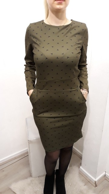 Green Dotted Dress