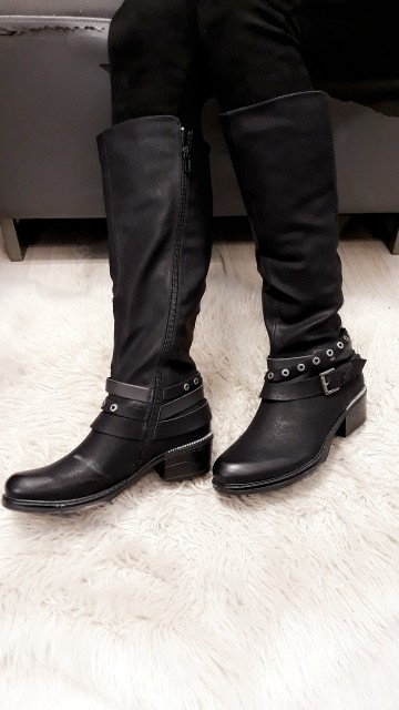 Belted High Boots Black