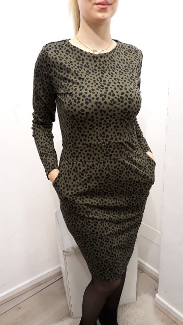 Green Pattern Dress