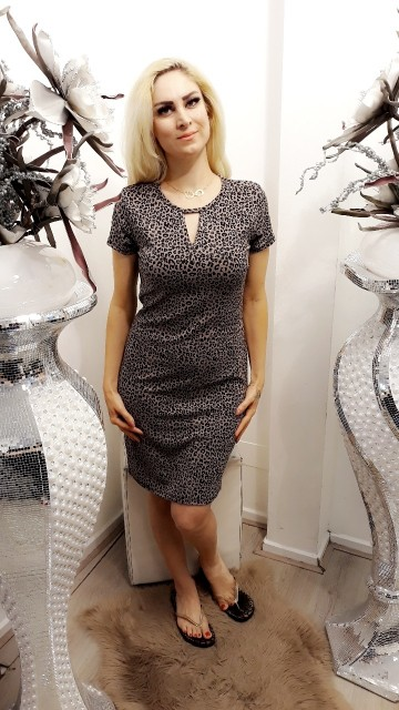 Grey tiger dress