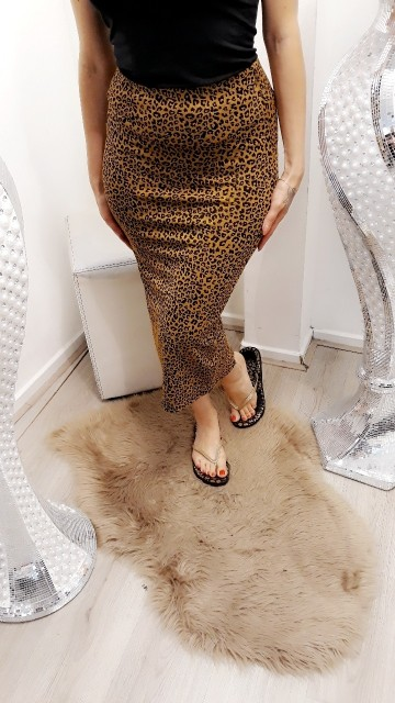 Long tiger skirt - Yellow