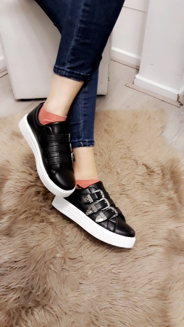 Basic black sneakers