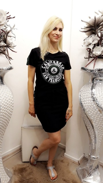 Black Dress With Text
