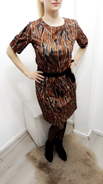 Orange Pattern Dress