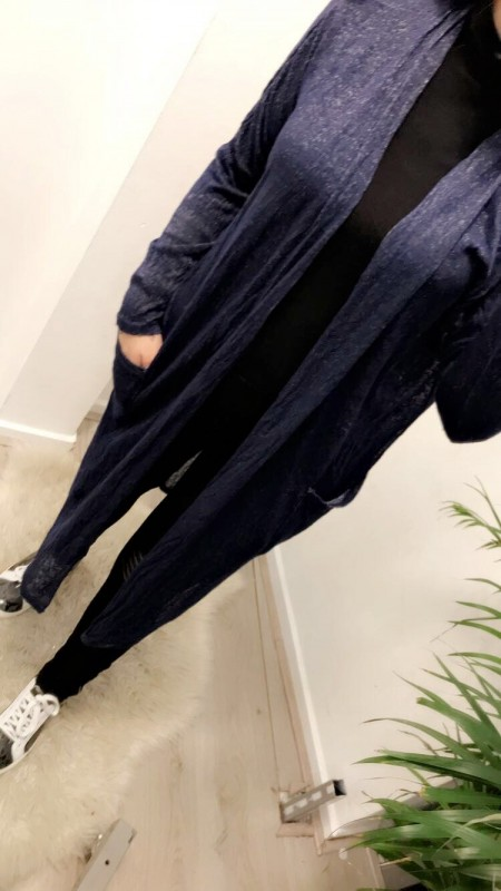 Dark Blue Vest Long