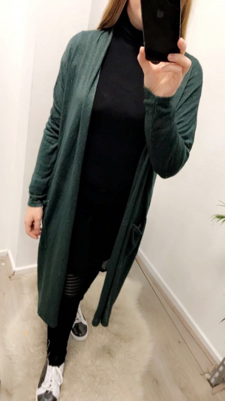 Long Vest Dark Green