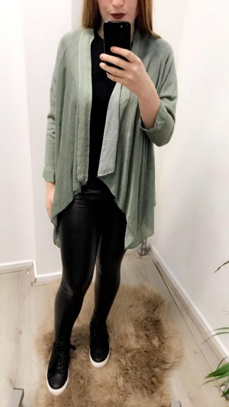 Light Green/Grey Long Vest