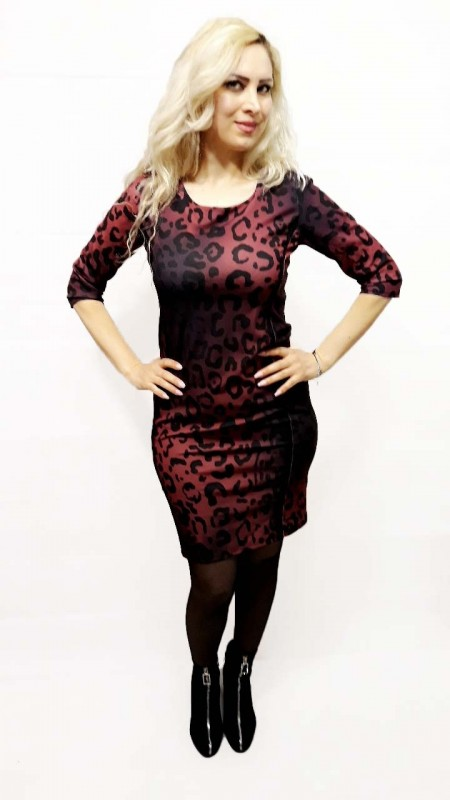 Red Loose Leopard Dress