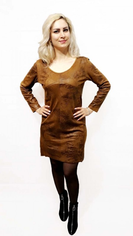Rustic Leather Dress