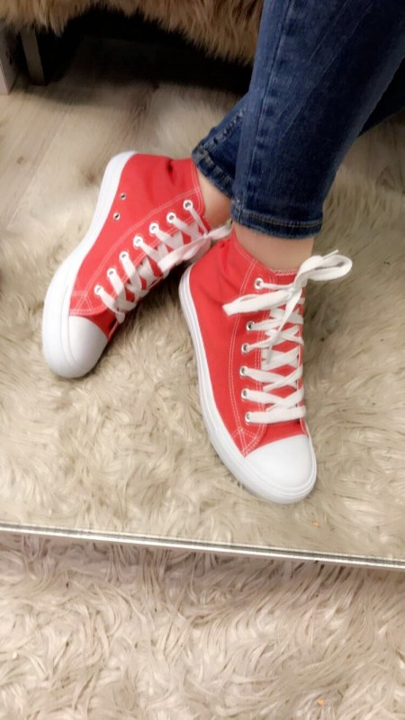 Red Angle Sneakers