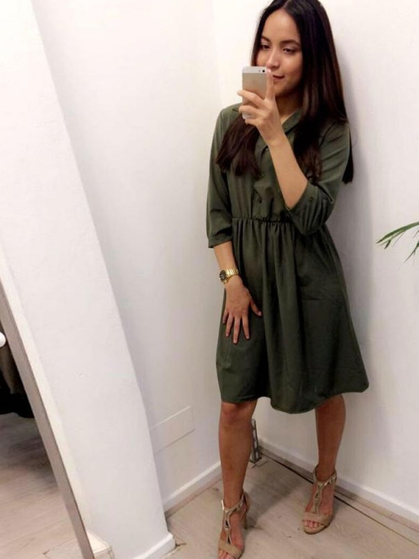 Dress army green