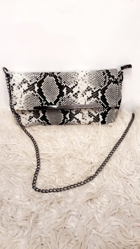 Chique Snake Bag White