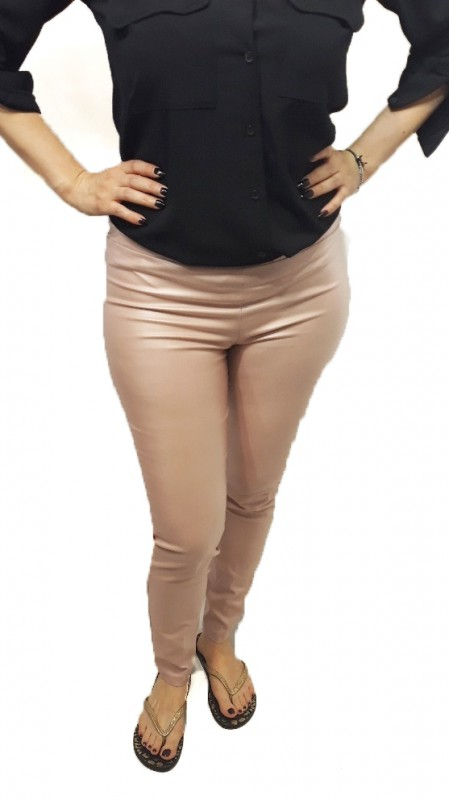 Pink Leather Leggings