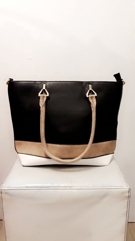 Beige And Black Bag