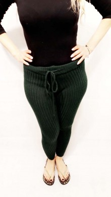 Green Knitted Pants