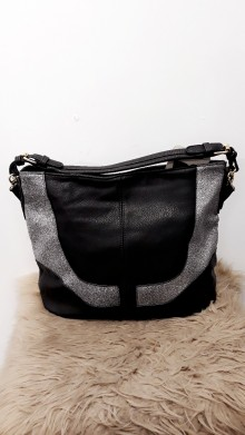 Black Zilver Gold Handbag
