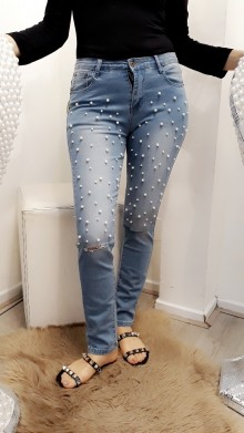 Light pearl jeans
