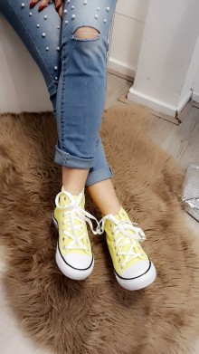 Summer sneakers - yellow