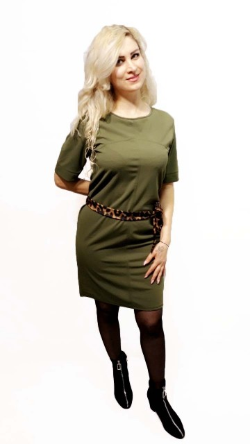 Green basic Dress