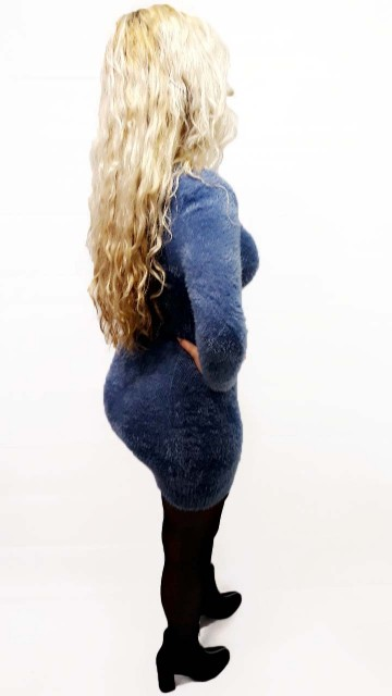 Blue Fluf Mini Dress