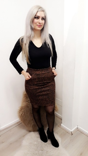 Koper Patterned Skirt