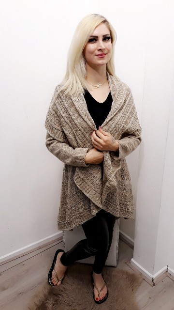 Ready For Fall Poncho Cream