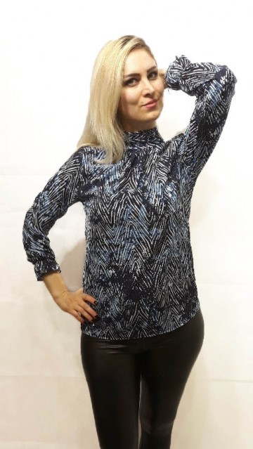 Blue Pattern Blouse