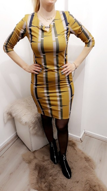 Yellow Print Dress