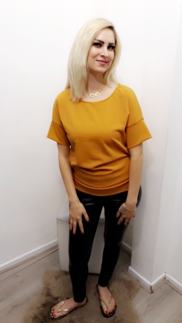 Bow Mosterd Blouse