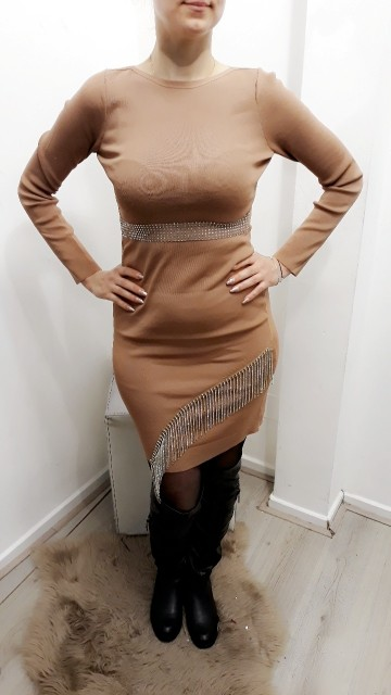 Chained Beige Dress