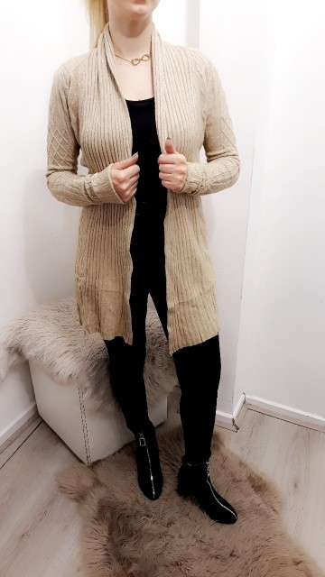 Knitted Creme Vest