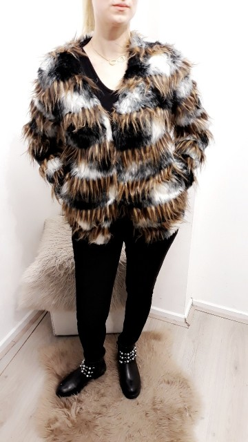 Faux Fur Coat Dark