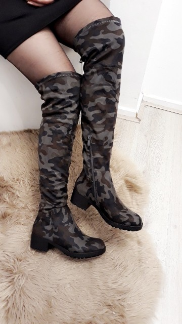 Knee High Army Boots