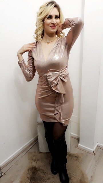 Champagne Bow Dress