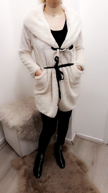 Teddy Coat White