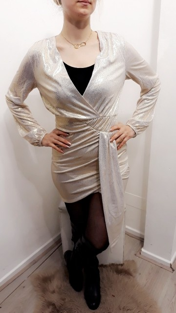 70's Cocktail Dress White