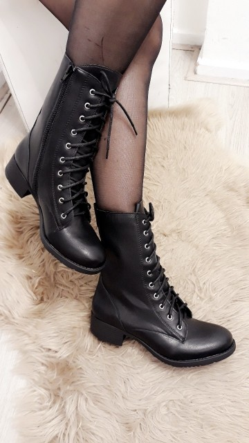 Black High Ankle Boots