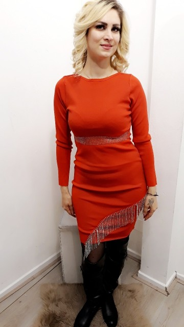 Chained Bright Red Dress